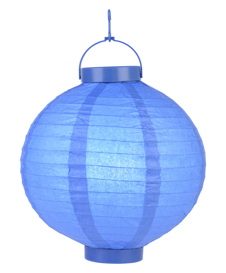 "BLOWOUT 8"" ""Budget Friendly"" Battery Operated LED Paper Lantern - Dark Blue"