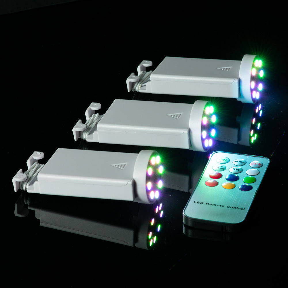 Fantado MoonBright™ BULK COMBO 8 LED Color Changing Battery Powered Lights for Lanterns (6 PACK + Remote Control)