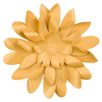 "Premium 8"" Pre-made Gold Daisy Paper Flower Backdrop Wall Decor for Weddings, Photo Shoots, Birthday Parties and more"