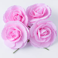 8-Inch Pink Tea Rose Foam Flower Backdrop Wall Decor, 3D Premade (4-PACK)  for Weddings, Photo Shoots, Birthday Parties and more