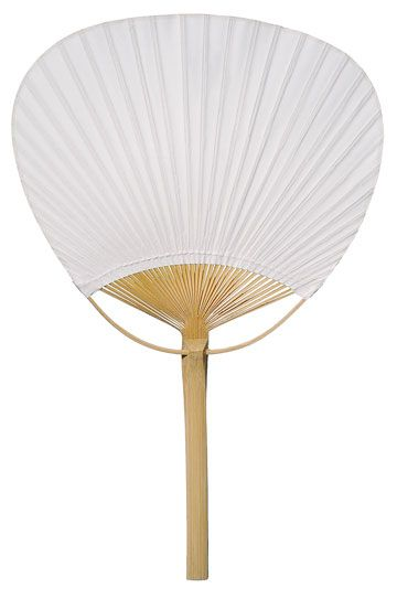 "9"" White Paddle Paper Hand Fans for Weddings (10 Pack)"