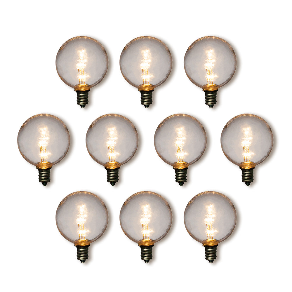 Flameless FREE SHIPPING Night Light Flicker Bulbs C7 Christmas or Night Light Size Bulbs 12 Clear Glass Bulb with Orange Flame
