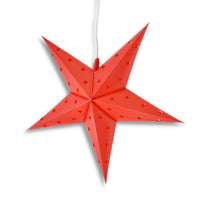 "LANTERN + CORD + BULB | 30"" Red 5-Point Weatherproof Star Lantern Lamp, Hanging Decoration - PaperLanternStore.com - Paper Lanterns, Decor, Party Lights & More"