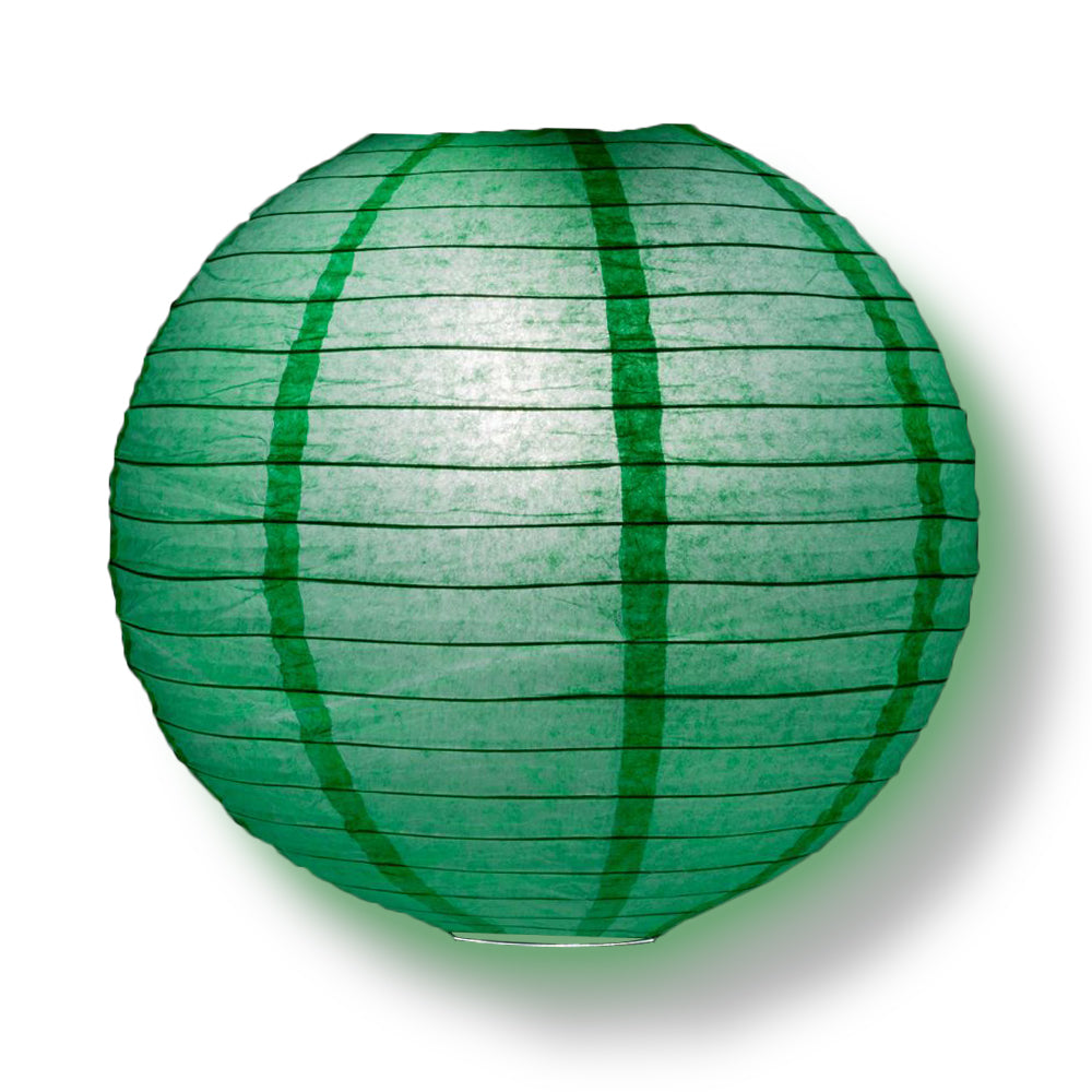 "4"" Arcadia Teal Round Paper Lantern, Even Ribbing, Hanging Decoration (10 PACK) - PaperLanternStore.com - Paper Lanterns, Decor, Party Lights & More"