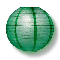 "4"" Arcadia Teal Round Paper Lantern, Even Ribbing, Hanging Decoration (10 PACK)"