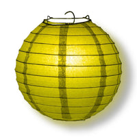 "4"" Pear Round Paper Lantern, Even Ribbing, Hanging Decoration (10-Pack)"