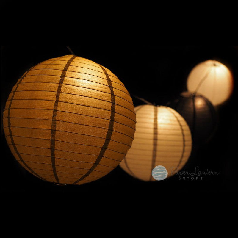 "12"" School Graduation Party Even Ribbing Paper Lantern String Light Decoration COMBO Kit (31 FT) - PaperLanternStore.com - Paper Lanterns, Decor, Party Lights & More"