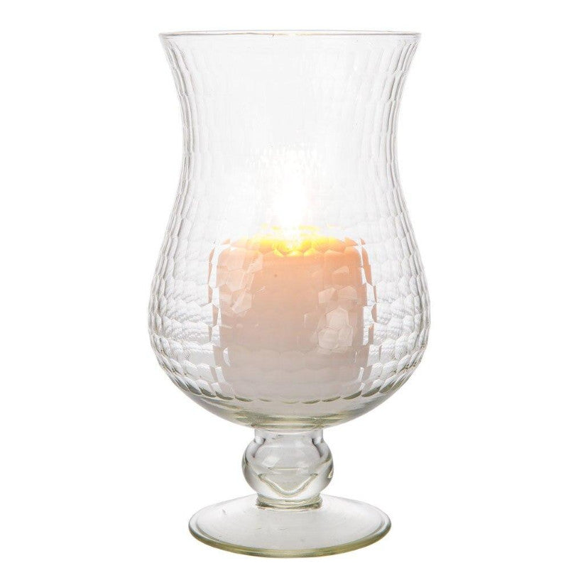 "BLOWOUT 10"" Large Clear Abigail Hurricane Candle Holder and Vase"