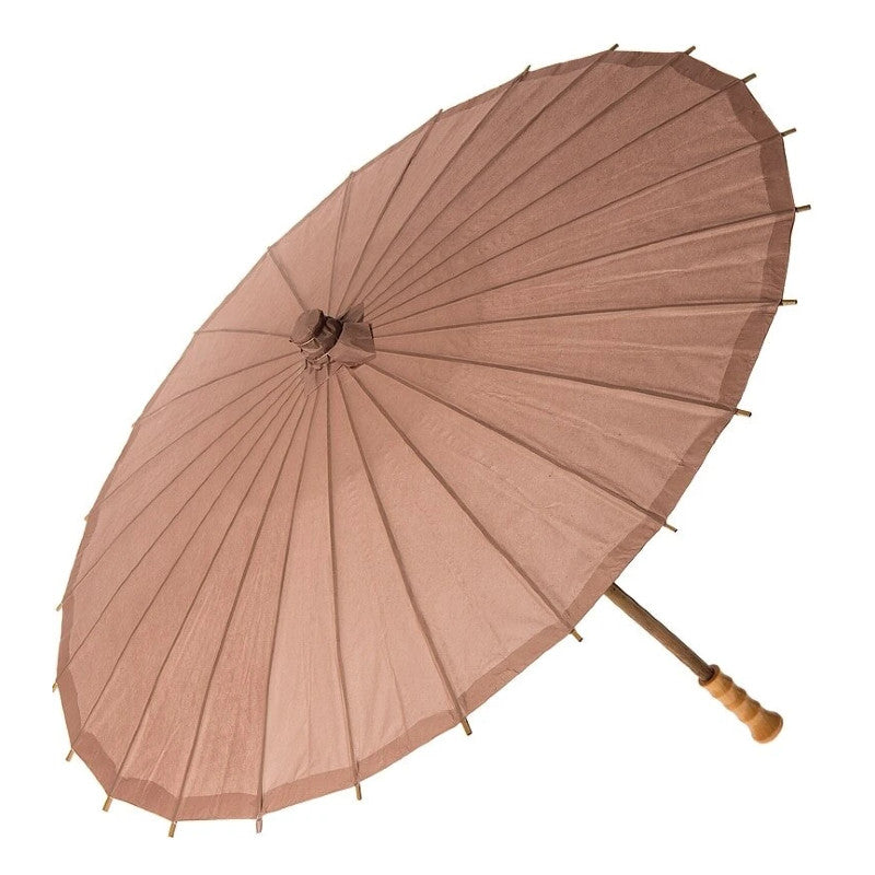 BLOWOUT Latte Brown 32 Inch Premium Paper Parasol