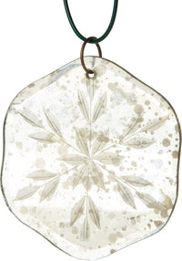 "3"" Antique Snowflake Glass Ornaments for Christmas Tree Holiday Decoration"