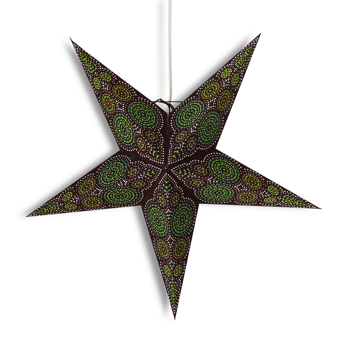 "BLOWOUT 24"" Brown / Green Aussie Paper Star Lantern, Hanging Wedding & Party Decoration - PaperLanternStore.com - Paper Lanterns, Decor, Party Lights & More"