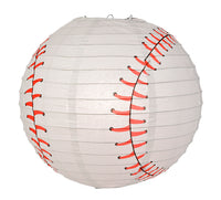 "14"" Baseball Paper Lantern Shaped Sports Hanging Decoration for Parties, Children's Bedrooms and Sports Teams"