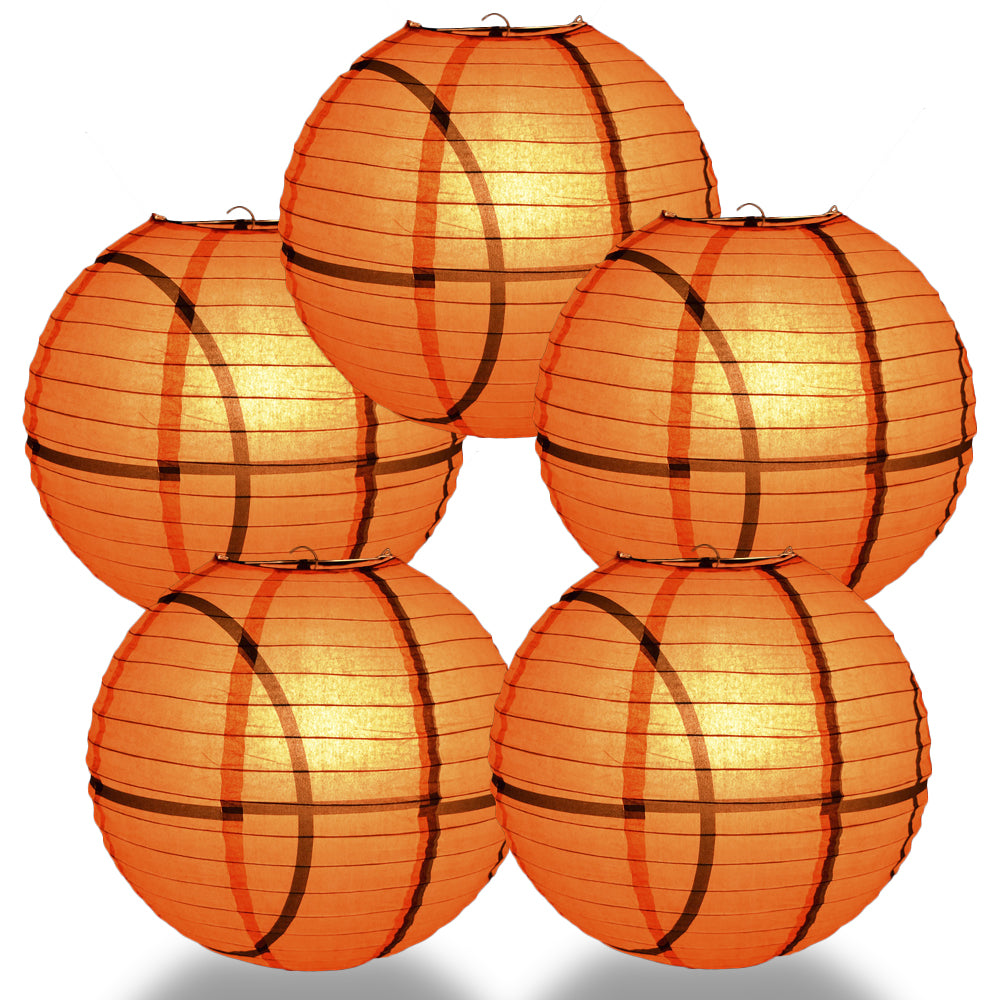 5 PACK|Basketball Paper Lantern Shaped Sports Hanging Decoration