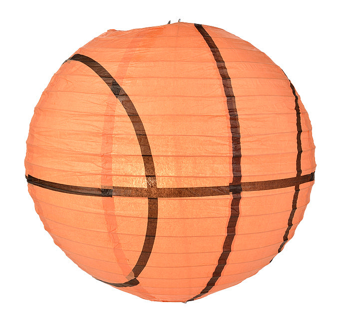 Basketball Paper Lantern Shaped Sports Hanging Decoration