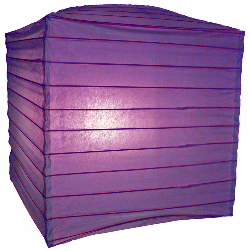 "10"" Dark Purple Square Shaped Paper Lantern - PaperLanternStore.com - Paper Lanterns, Decor, Party Lights & More"