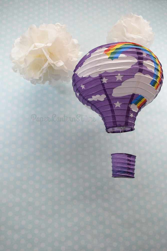 BLOWOUT Purple Rainbow Hot Air Balloon Paper Lantern