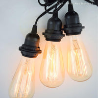 Triple Socket Black Pendant Light Lamp Cord for Lanterns, 19 FT