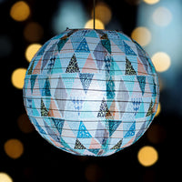 14 Inch Bohemian In the Rough Patterned Premium Paper Lantern