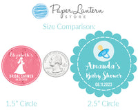 2.5 Inch Candy and Treats Circle Label Stickers for Party Favors & Invitations (Pre-Set Designed, 24 Labels)