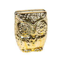 "2.25"" Gold Owl Place Card Holder"