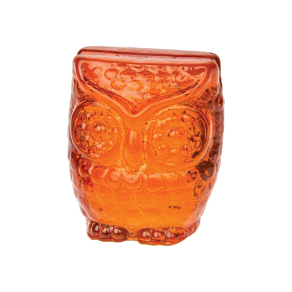 "2.25"" Orange Owl Place Card Holder - PaperLanternStore.com - Paper Lanterns, Decor, Party Lights & More"