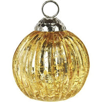 "2.25"" Gold Mercury Glass Mona Glass Place Card Holder"
