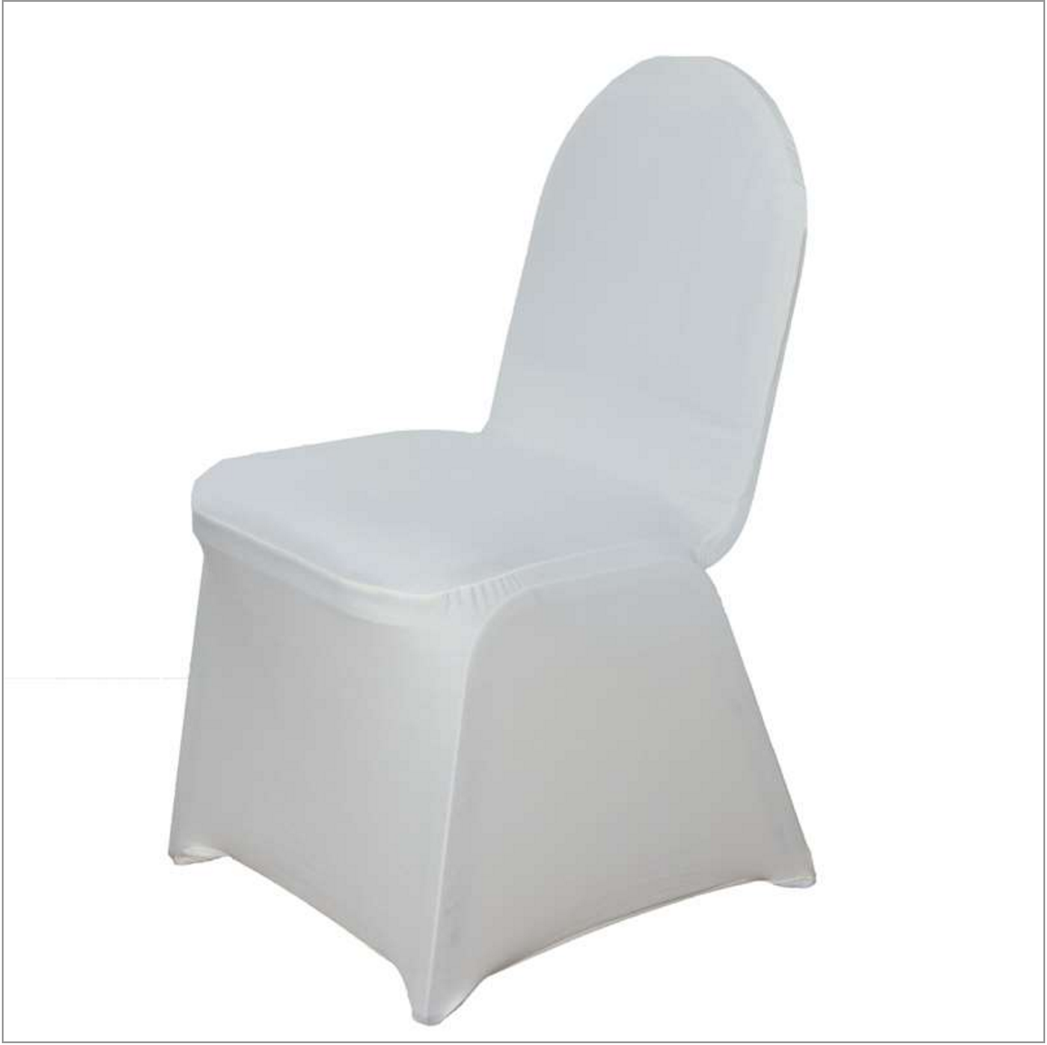 BLOWOUT Beige / Ivory Form Fitting Stretch Fabric Full Chair Cover