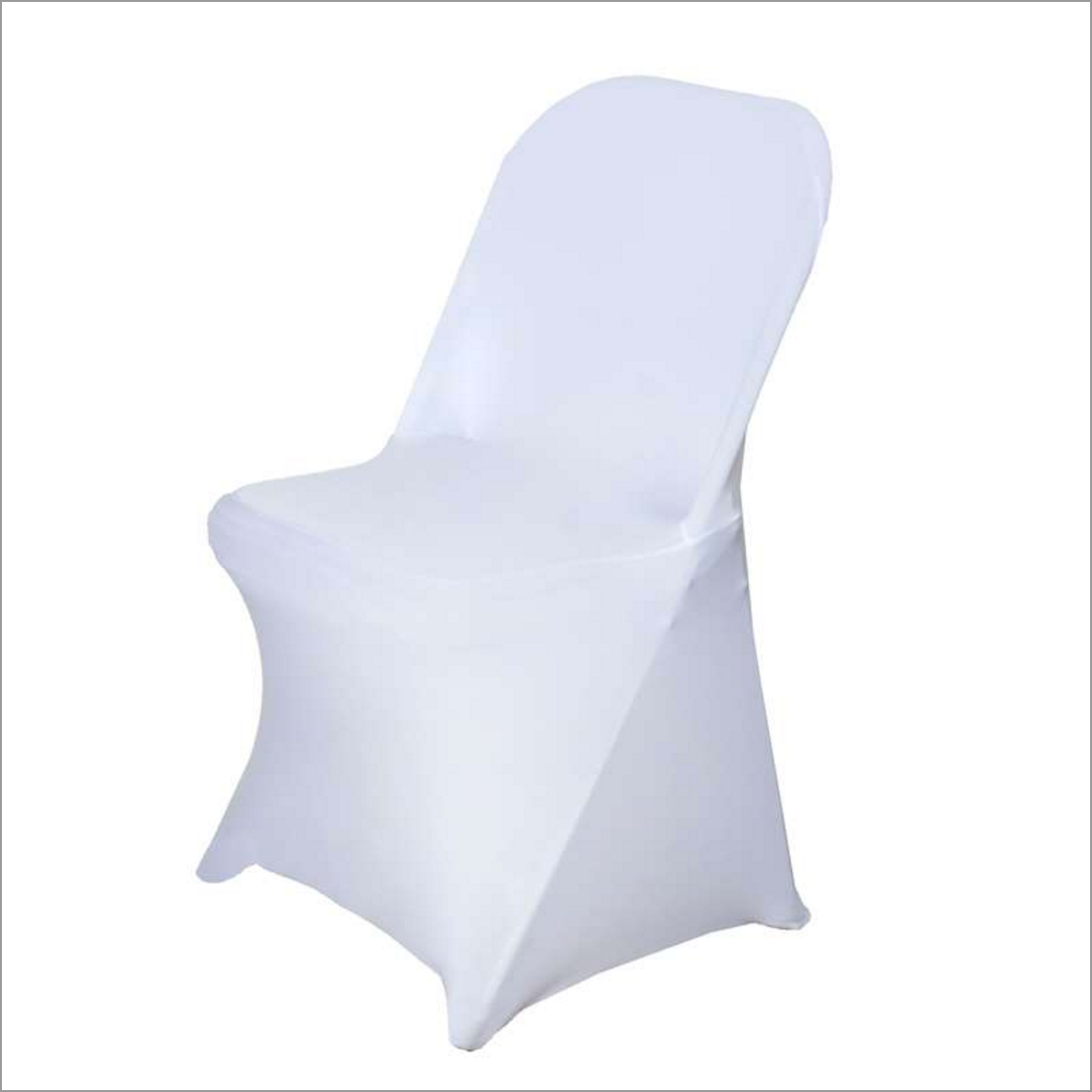 BLOWOUT White Stretch Folding Chair Cover