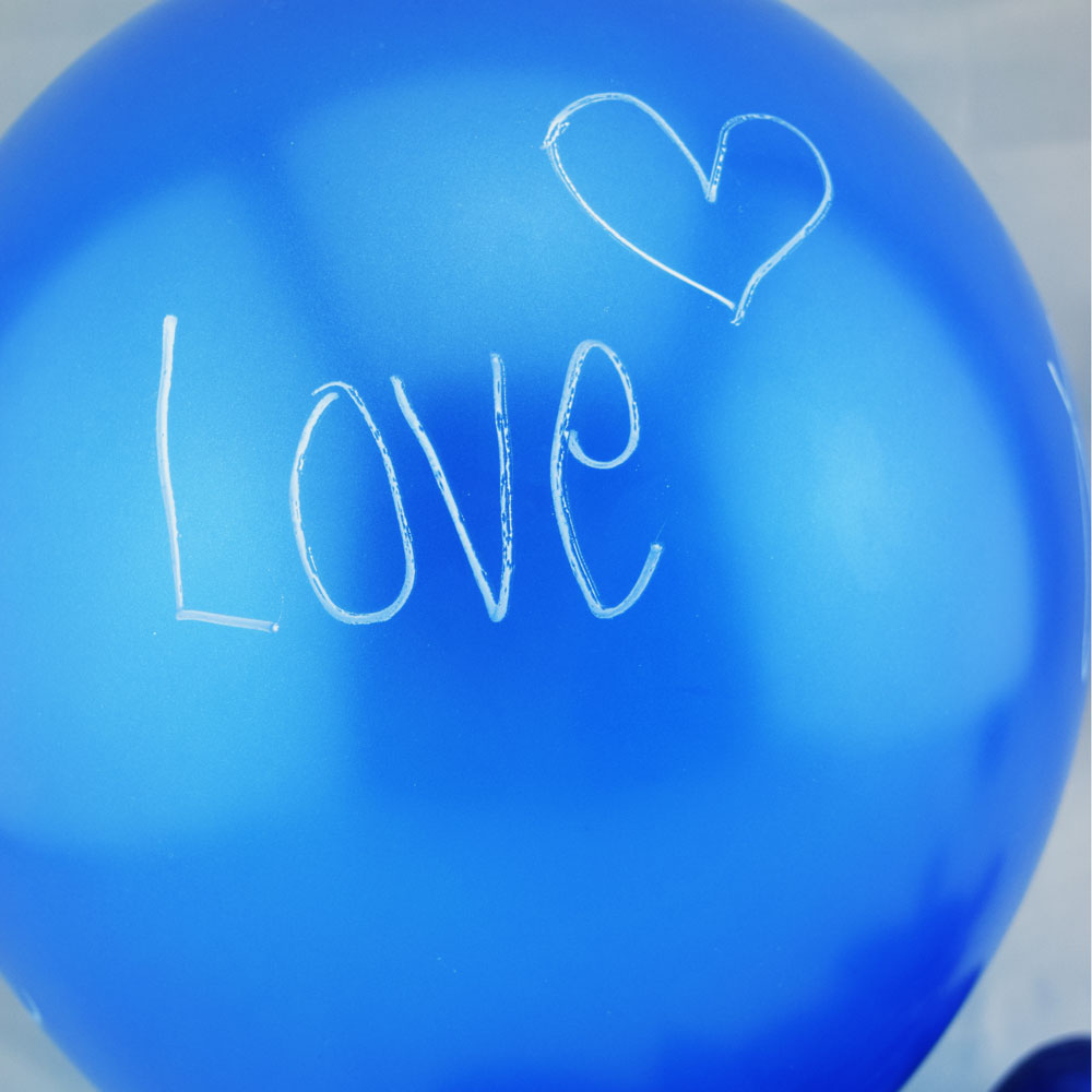BLOWOUT Pearl Blue Chalkboard Balloons for DIY Party Messages w/ Pen (10-PACK)