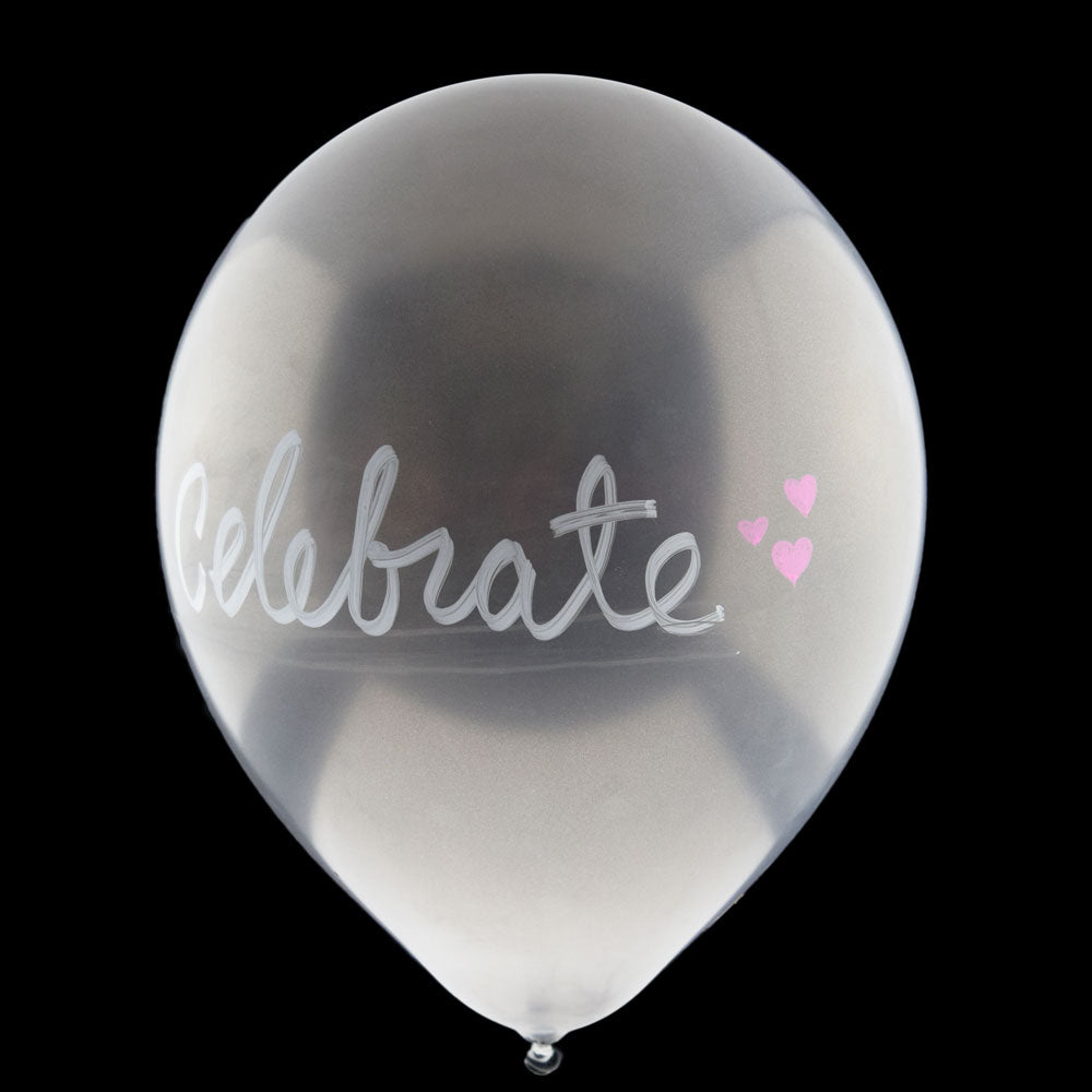 Pearl Baby Blue Chalkboard Balloons for DIY Party Messages w/ Pen (10-PACK) - PaperLanternStore.com - Paper Lanterns, Decor, Party Lights & More