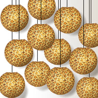 "12 PACK | 14"" Cheetah Print Paper Lantern - PaperLanternStore.com - Paper Lanterns, Decor, Party Lights & More"