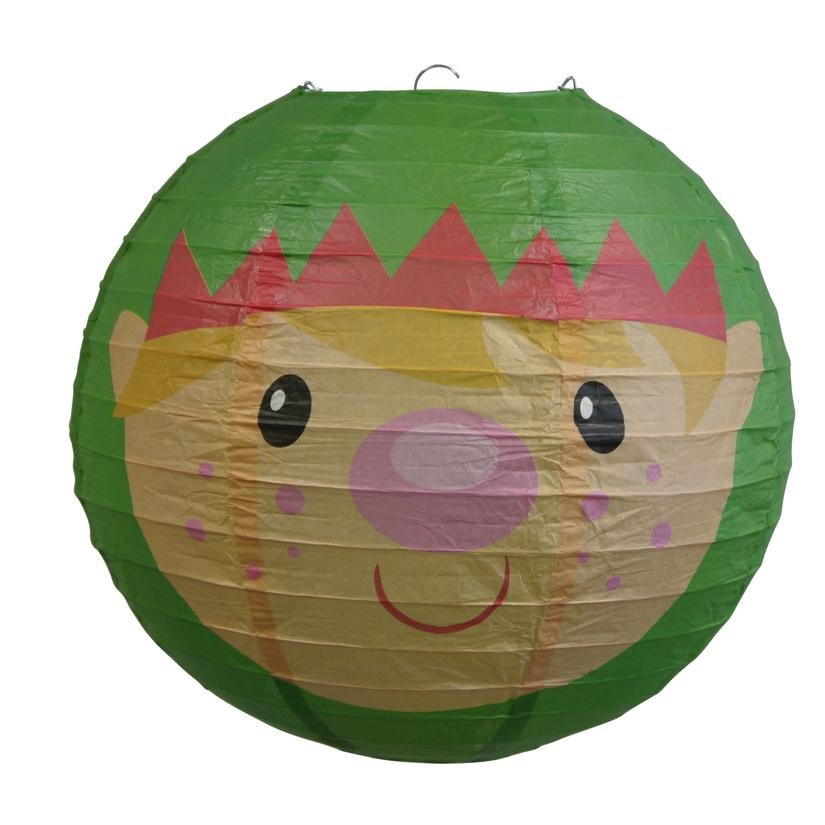 "BLOWOUT 14"" Elf / Elves Christmas Holiday Paper Lantern - PaperLanternStore.com - Paper Lanterns, Decor, Party Lights & More"