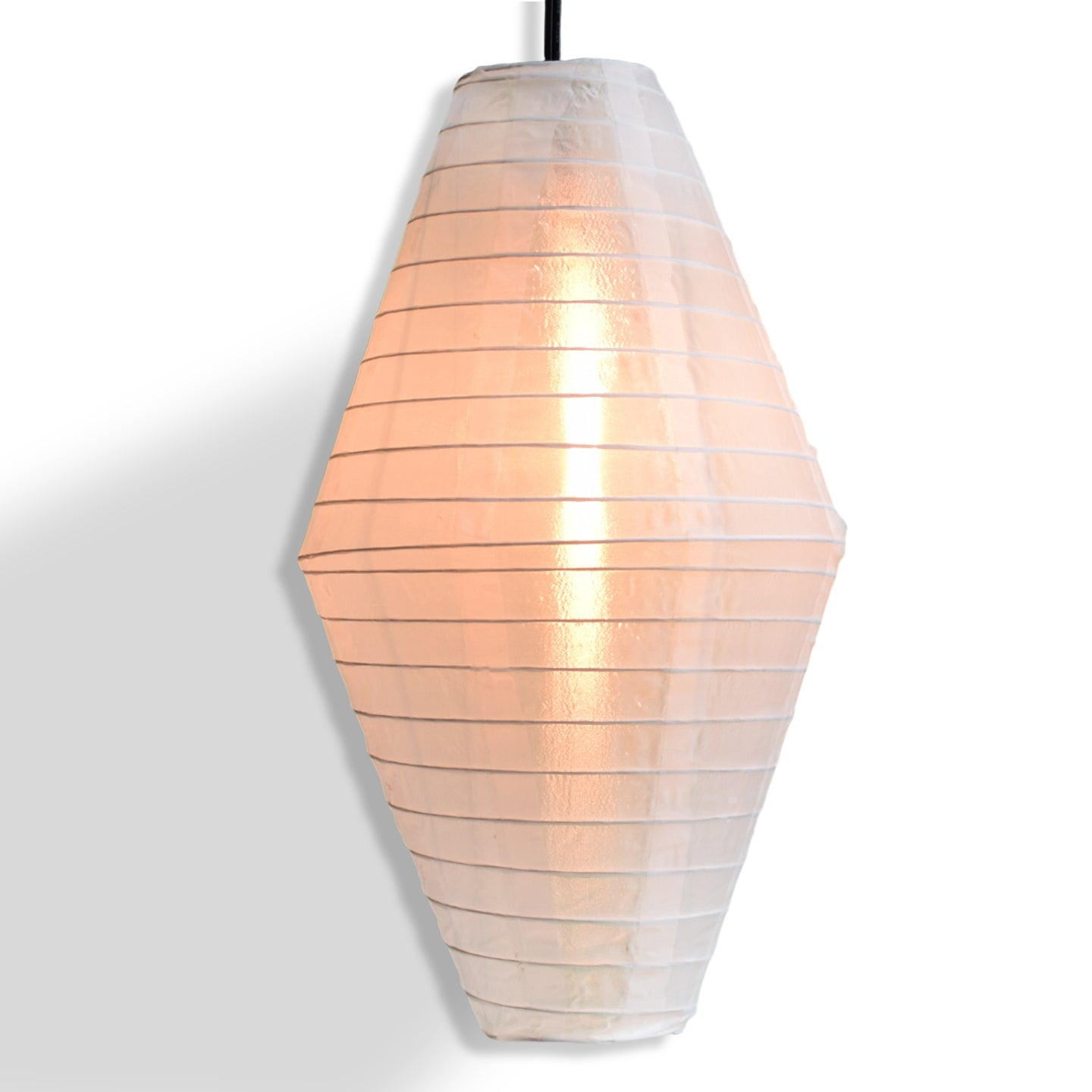 "14"" White Diamond Nylon Lantern"