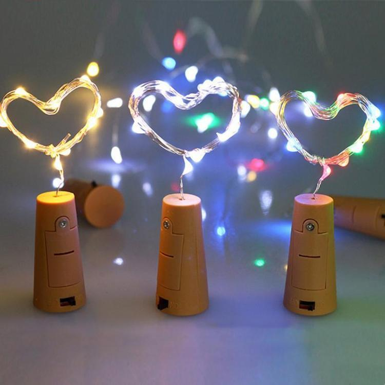 3 Pack | 3 Ft 20 Super Bright RGB LED Battery Operated Wine Bottle lights With Cork DIY Fairy String Light For Home Wedding Party Decoration
