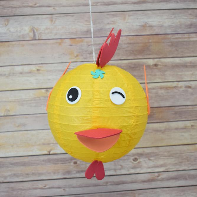 "8"" Paper Lantern Animal Face DIY Kit - Chicken / Rooster (Kid Craft Project) - PaperLanternStore.com - Paper Lanterns, Decor, Party Lights & More"