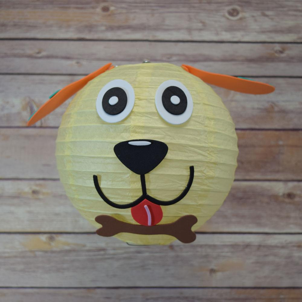 "8"" Paper Lantern Animal Face DIY Kit - Dog (Kid Craft Project) - PaperLanternStore.com - Paper Lanterns, Decor, Party Lights & More"