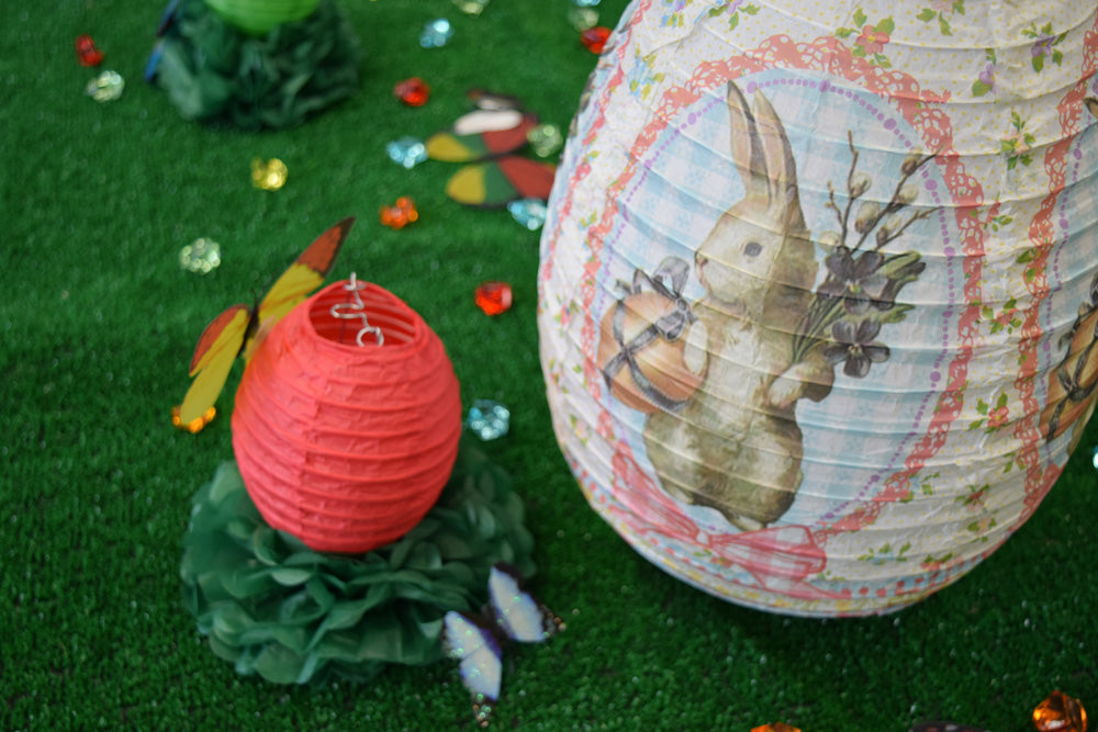"14"" Easter Bunny Paper Lantern - PaperLanternStore.com - Paper Lanterns, Decor, Party Lights & More"