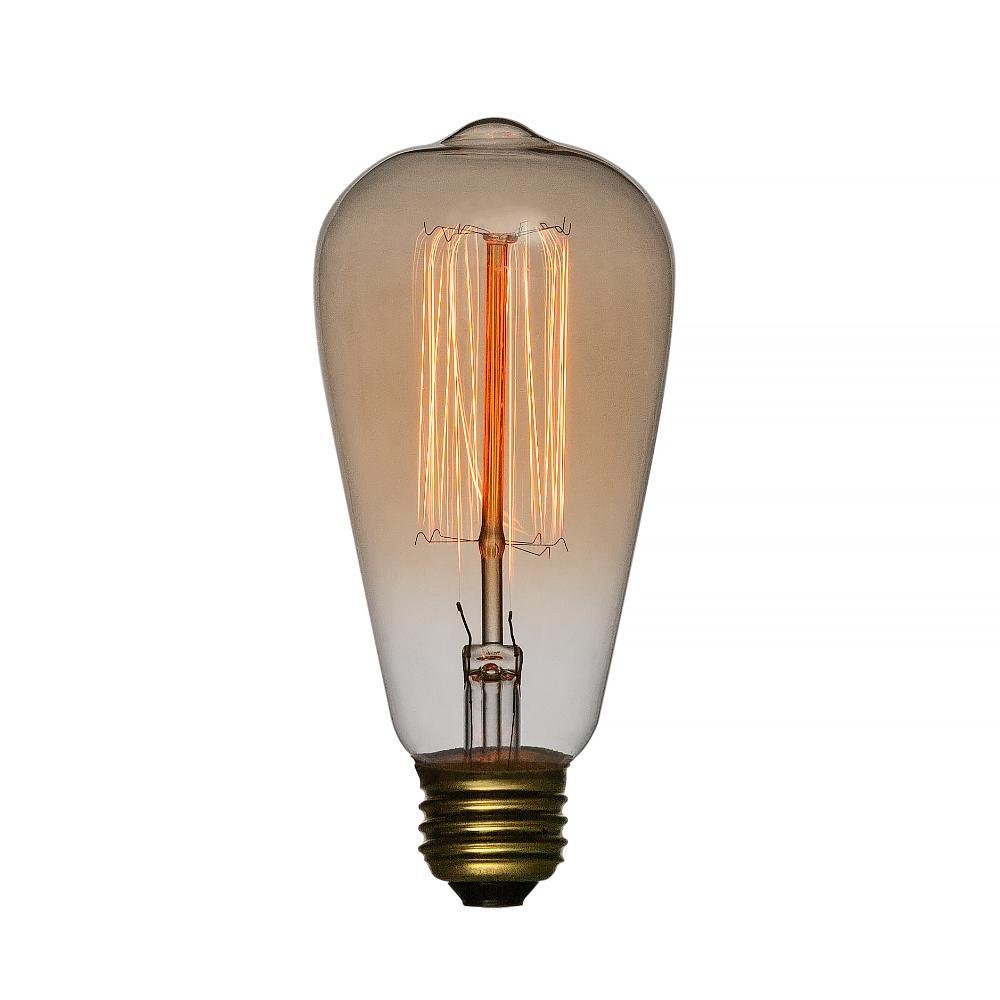 40-Watt Incandescent ST64 Vintage Edison Light Bulb, Squirrel Cage Filament, E26 Medium Base - PaperLanternStore.com - Paper Lanterns, Decor, Party Lights & More
