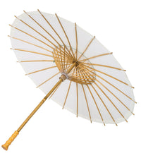 "32"" Wedding White Paper Parasol Umbrellas with Long Elegant Handle"