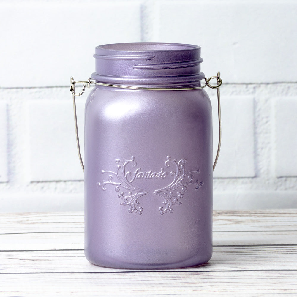 BLOWOUT (3-Pack) Fantado Regular Mouth Frosted Wisteria Purple Color Mason Jar w/ Handle, 16oz / 1 Pint