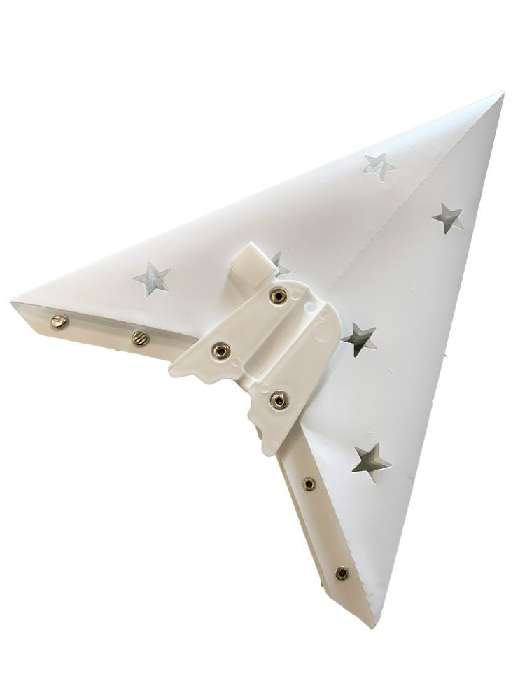 "12"" White 7-Point Weatherproof Star Lantern Lamp, Hanging Decoration - PaperLanternStore.com - Paper Lanterns, Decor, Party Lights & More"