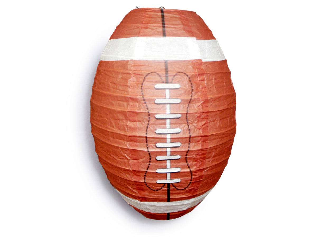 Football Paper Lantern Shaped Sports Hanging Decoration Novelty for Super Parties