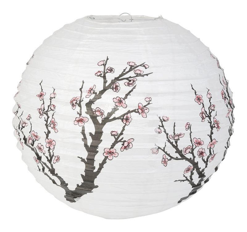 "16"" Cherry Blossom / Sakura Paper Lantern - PaperLanternStore.com - Paper Lanterns, Decor, Party Lights & More"