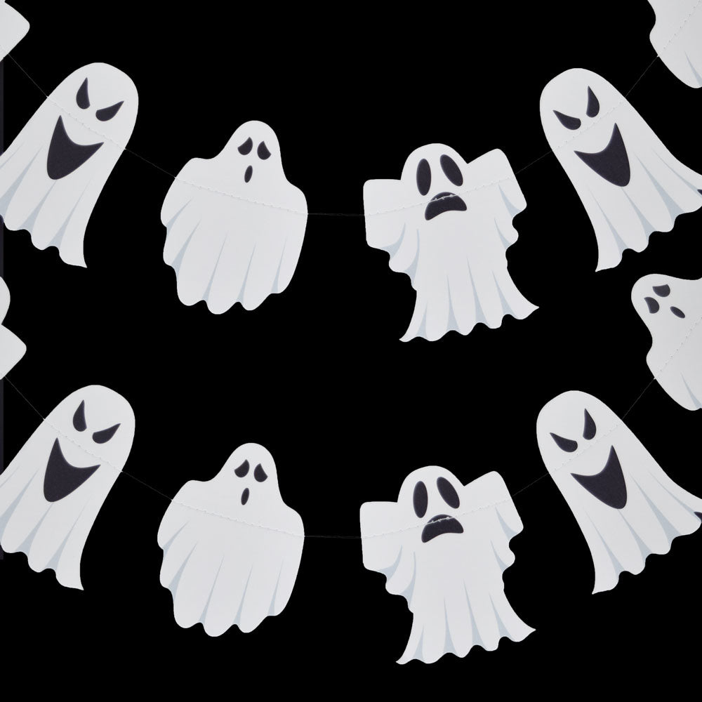 BLOWOUT Halloween Ghosts Paper Garland Banner (10FT)