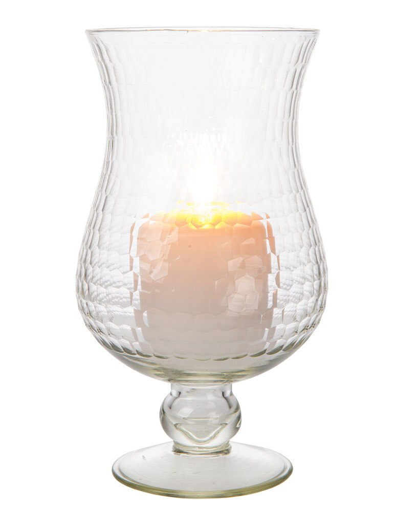 "10"" Large Clear Abigail Hurricane Candle Holder and Vase - PaperLanternStore.com - Paper Lanterns, Decor, Party Lights & More"