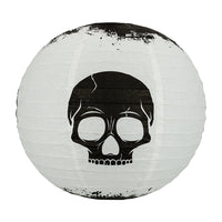 Halloween 12-Piece Deadly Skulls Paper Lantern Party Pack Set, Assorted Hanging Decoration