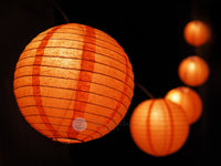 "12"" Halloween Jack-O-Lantern Pumpkin Paper Lantern String Light Kids Decorating Party DIY Kit (31 FT, EXPANDABLE, Black Cord)"