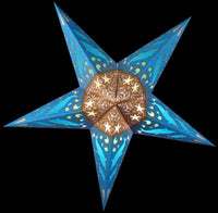 "24"" Blue Dolphins Paper Star Lantern, Chinese Hanging Wedding & Party Decoration"