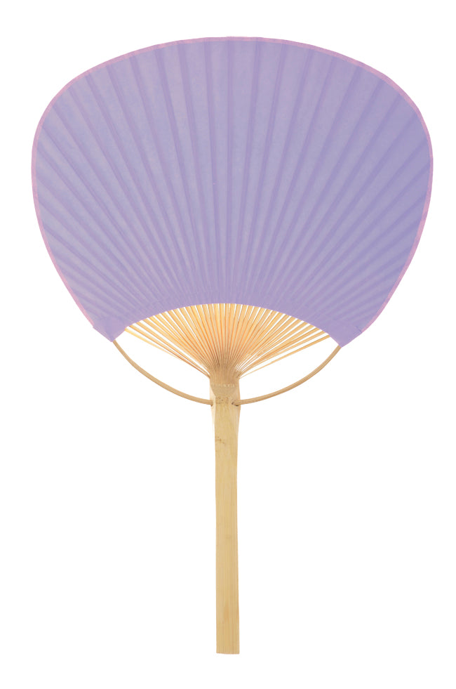"9"" Lavender Paddle Paper Hand Fans for Weddings (10 Pack)"
