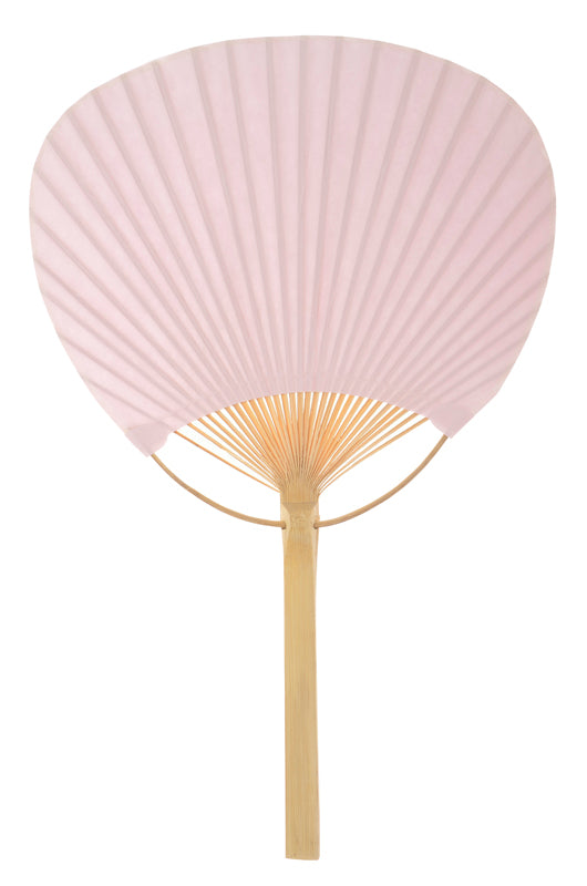 "9"" Pink Paddle Paper Hand Fans for Weddings (10 Pack)"